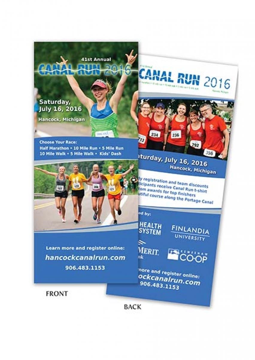 41st Annual Canal Run Rack Card