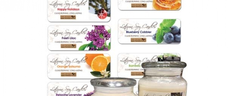 Latumn Soy Candles Labels
