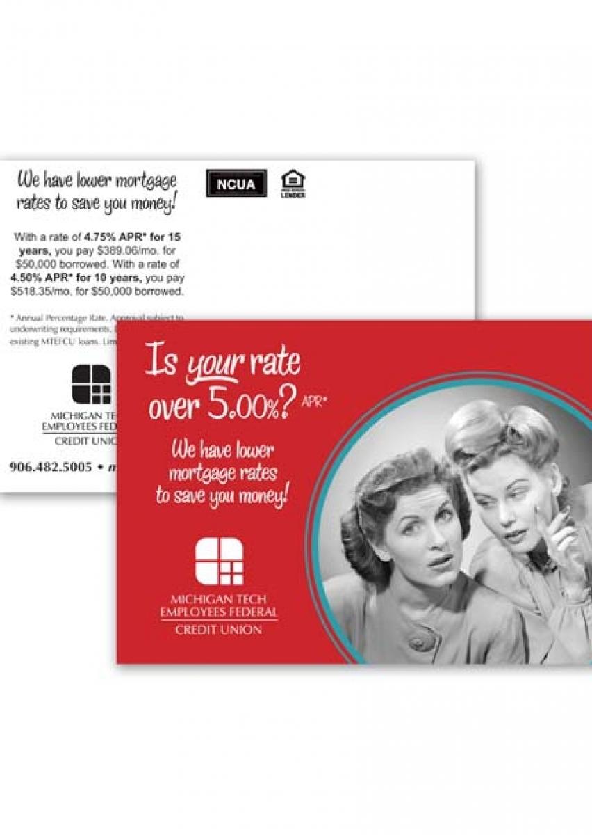 MTEFCU Mortgage Rate Postcard